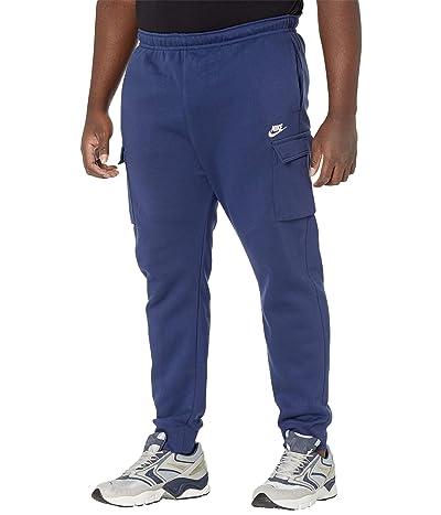 Nike Big Tall NSW Club Pants Cargo (Midnight Navy/Midnight Navy/White) Men
