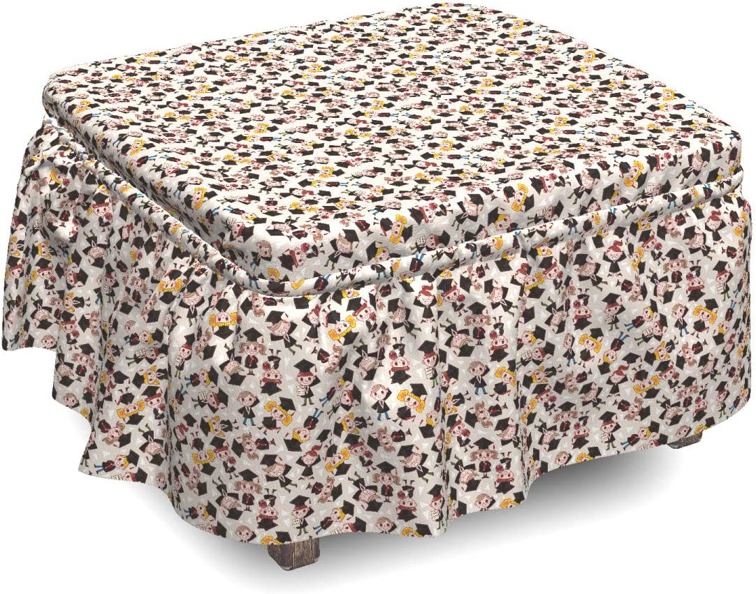 Ambesonne Graduation Ottoman Cover free shipping Happy Girl Boy 2 Luxury goods Students P