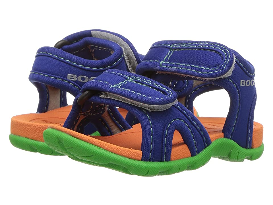 ef49bb47f48b Bogs Kids Whitefish Solid (Toddler) (Blue Multi) Boys Shoes