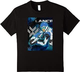 Kids Voltron Legendary Defender Lance Blue Lion Action T-Shirt