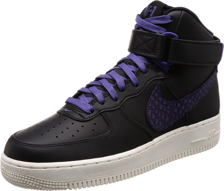 NIKE Air Force 1 High 07 LV8 Hommes 806403 paniers Chaussures (UK 8.5 US 9.5 EU 44.5, noir Court violet sail 014)