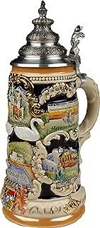 Beer Steins by King - Bavarian Castle Full Relief German Beer Stein (Beer Mug) 0.75l Limited Edition