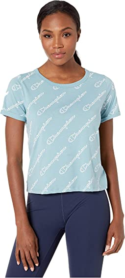 Champion Outline Script Cornflower Teal