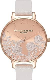 Olivia Burton Lace Detail Blush Rose Gold Dial Ladies Watch OB16MV53