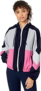 Betsey Johnson Womens ERX4J01 Colorblocked Woven Windbreaker Windbreaker - Multi