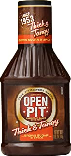 Open Pit Thick & Tangy Barbecue Sauce, Brown Sugar & Spice, 18 Ounce (Pack of 12)