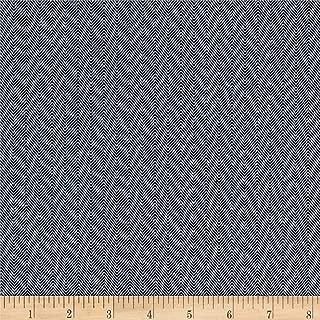 Carr Textile 10 Oz. Herringbone Striped Denim Fabric, Blue, Fabric By The Yard