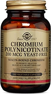 Solgar – Chromium Polynicotinate 200 mcg, 100 Vegetable Capsules