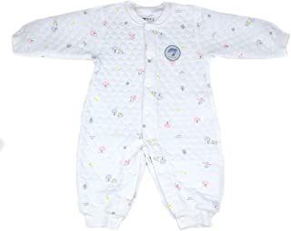 Footed Coverall Bodysuit Cotton-Padded Romper Newborn Baby Girls Cute Long-Sleeve Pink Tree
