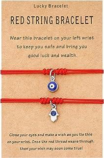 Red String Bracelet for Protection Good Luck Kabbalah Ojo Relationship Matching Bracelet for Women Men Girls Family