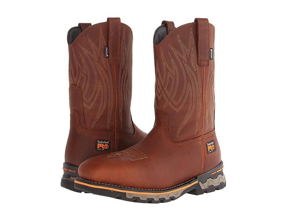 Timberland PRO AG Boss Pull-On Alloy Square Toe (Red Brown) Men