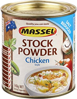 Massel Chicken Stock, Salt Reduced, Gluten Free, Cholesterol Free, No Added MSG, Made In Australia, 140g