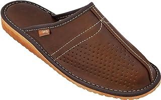 96053c0ee052a BeComfy Chaussures en Cuir pour Homme Chaussons Mules Noir boîte à Cadeau  en Option Modèle