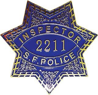AIIZ Collectibles Dirty Harry San Francisco Inspector 2211 Replica Movie Prop Badge Clint Eastwood