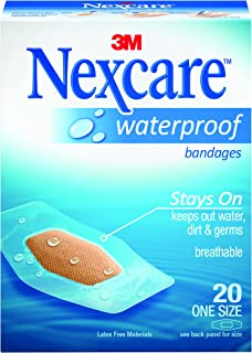 Nexcare Waterproof Bandages, Value Pack, 20 Bandages, One Size