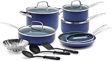 Blue Diamond Pan CC001951-001 Cookware-Set, 14 Piece
