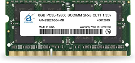Adamanta 8GB (1x8GB) Laptop Memory Upgrade DDR3/DDR3L 1600Mhz PC3L-12800 SODIMM