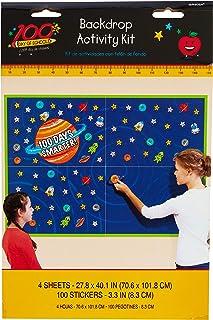 """100 Days Smarter!"" Wall Activity Decorating Kit (101 Pcs) - 1 Pack"