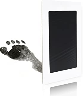 Clean Touch Ink Pad for Baby Handprints and Footprints – Inkless Infant Hand & Foot Stamp – Safe for Babies, Doesn't Touch Skin – Perfect Family Memory or Gift – 2 Uses, Black Print Kit by Tiny Gifts