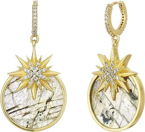 12K Soft Polish Gold/Crystal/Labradorite