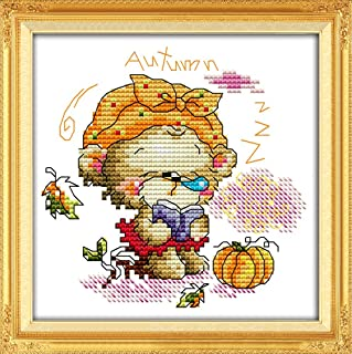 YEESAM ART New Cross Stitch Kits Advanced Patterns for Beginners Kids Adults DIY Needlework Wedding Christmas Gifts Asleep Angel Baby Boy 11 CT Stamped 33/×35 cm