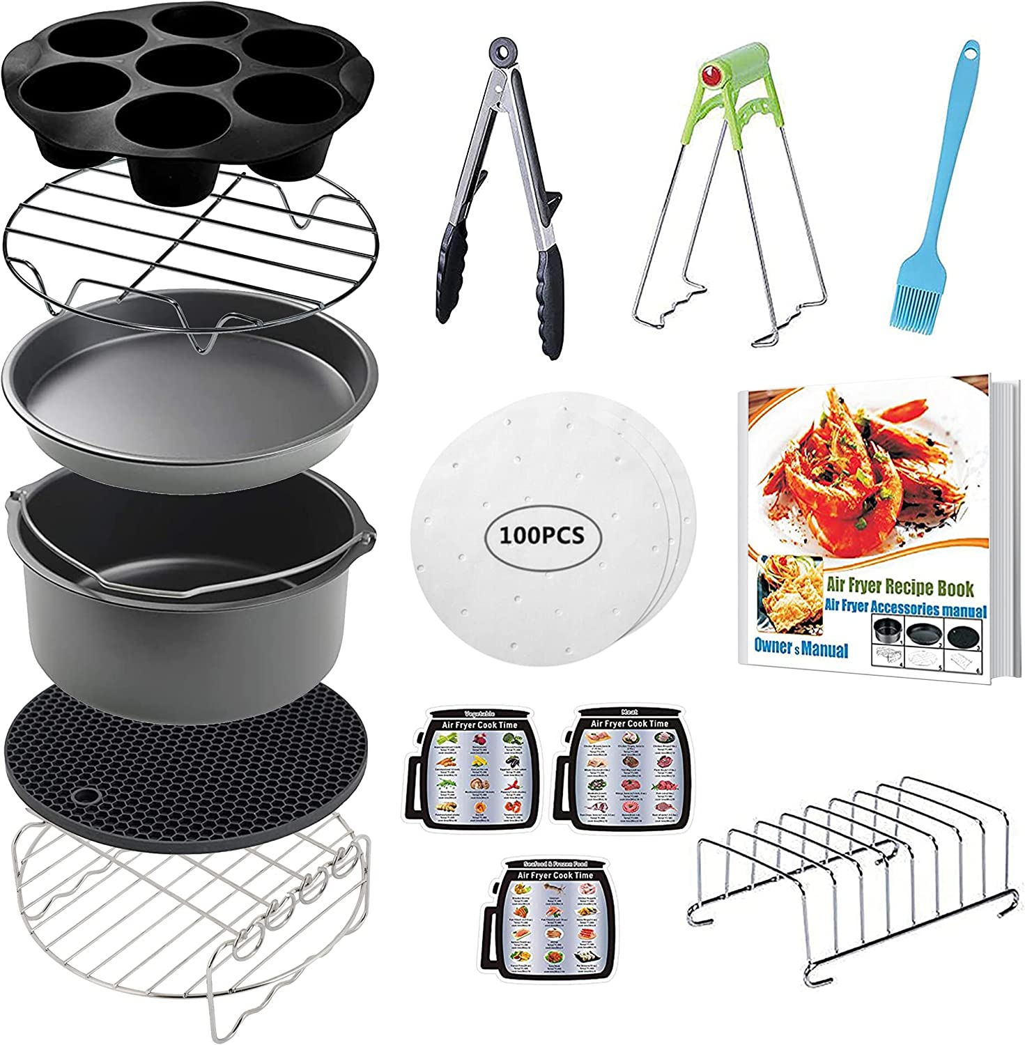 CAXXA 15 PCS 8 Inch XL Accesso Air Deep Accessories Lowest price Max 82% OFF challenge Fryer