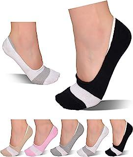 Ambielly Mujer No show Calcetines cortos Algod/ón Casual Suave Invisible Corte bajo Calcetines Tobillo Barco Delgado Ligero Calcetines