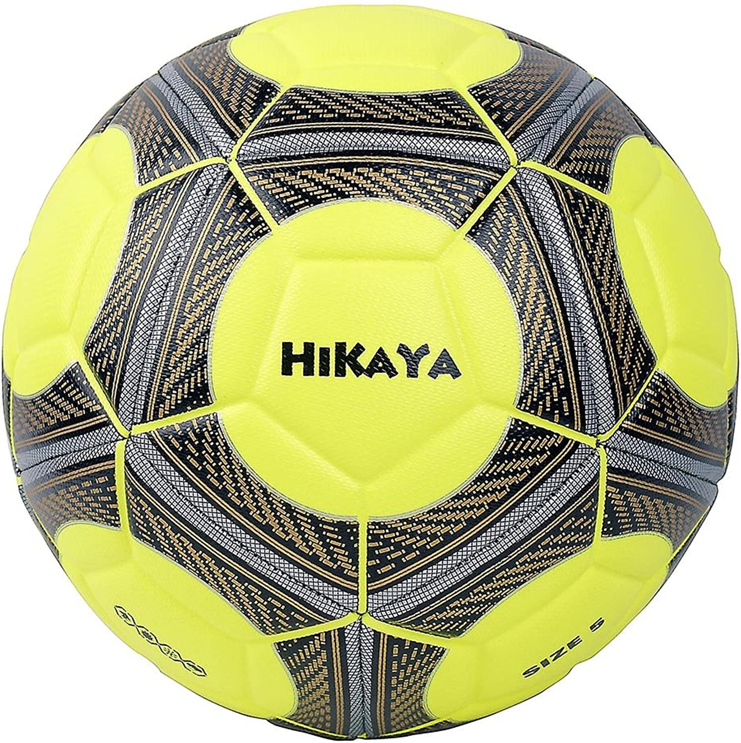 HIKAYA Premier PU Soccer Ball Official Size 5 Soft Touch for Training and Match