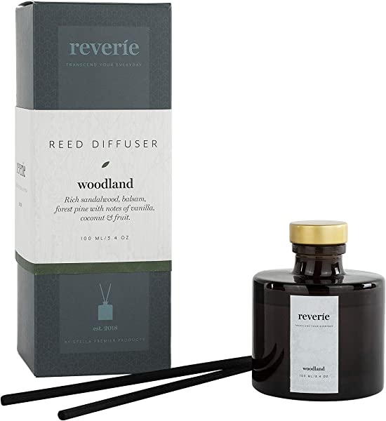 Reverie Reed Diffuser Fragrances Essential Oil Aromatherapy Home Set Woodland 100ml 3 4oz