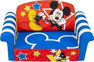 Marshmallow Furniture, Children's 2-in-1 Flip Open Foam Compressed Sofa, Disney's..