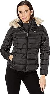 Basic Jacket with Faux Fur Hood