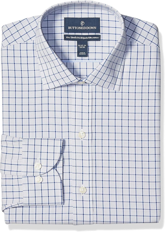Buttoned Down Men's Xtra-Slim Fit Dress Non-Iron Shirt Columbus Mall Pattern Cheap sale