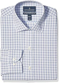 Marchio Amazon - Buttoned Down Xtra-Slim Fit Pattern Non-Iron Dress Shirt Uomo