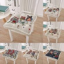 Almofadas de assento para cadeiras de jantar, algodão 43 x 43 cm, almofadas macias para cadeiras de cozinha, exatamente o ...