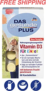 Vitamin D3 for Children - Chewable Tablets - 60 pcs, Das gesunde PLUS/Germany