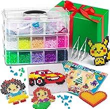 ToyLux Cuentas para Planchar - Kit de Abalorios de Colores de 5 mm de 18.000 Piezas - Juego de Manualidades para Niños con...