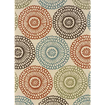 Granville Rugs Monterey Indoor/Outdoor Area Rug, Multi, 6' 7 x 9' 6""""