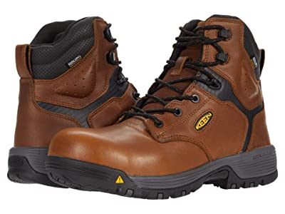Keen Utility Chicago 6 Internal Met Waterproof (Carbon-fiber Toe) (Tobacco/Black) Men