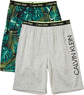 Calvin Klein Boys' Lounge Pajama Shorts, 2 Pack