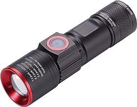 Originele Troika Eco Beam Pro Tor53/BK zaklamp, wit ledlicht (350 lumen), 2 lichtsterktes, knipperlicht, dimbaar, zoom, mi...