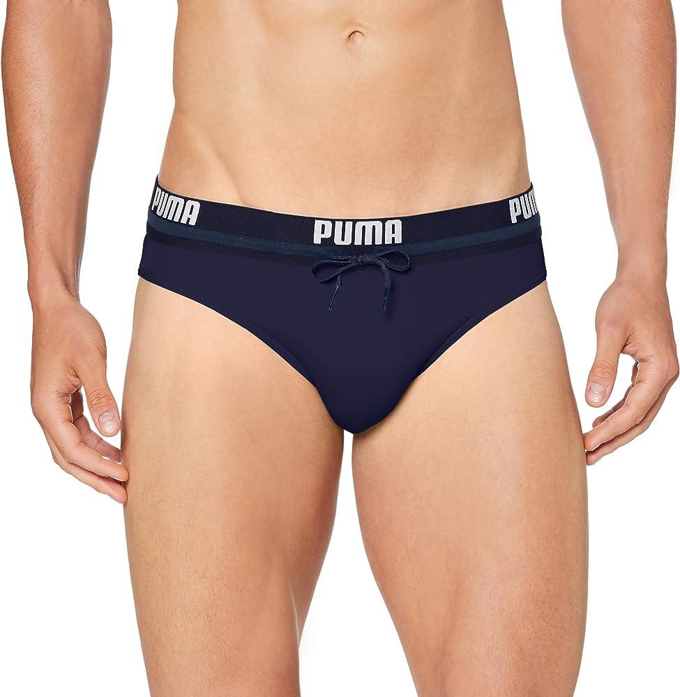 Puma logo men`s swimming brief , costume da bagno per uomo , 80% poliammide, 20% elastan 100000026B