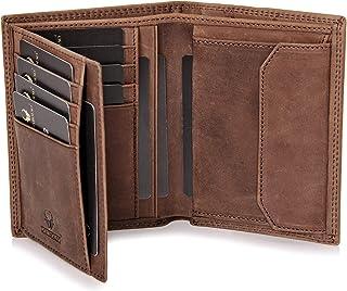 DONBOLSO Geldbörse Wien I Großes Portemonnaie für Herren I Geldbeutel aus Leder mit RFID-Schutz I Braun