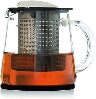 Finum 66/428.40.00 Control Tea Brewing Pitcher, 27 oz, Black