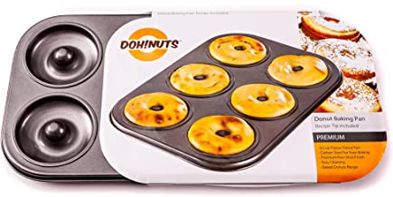 Donut Pan - Premium 6 Cup Non-Stick Donut & Bagel Maker - PFOA Free for Healthier Homemade Baked Doughnuts.