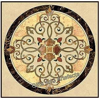 20 pulgadas de mármol centro mesa superior de centro con incrustaciones de piedras semi preciosas para decoración