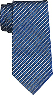 Robert Talbott Estate Blue White Geometric Striped Tie