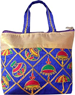 Kuber Industries Embroidery Small Hand Bag, Tote Bag, Purse For Daily Trips, Travel, Office & All Occasions For Women & Gi...