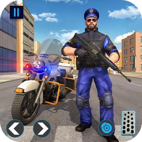 Police Bike Gangster Chase: Juegos de bicicletas 2019