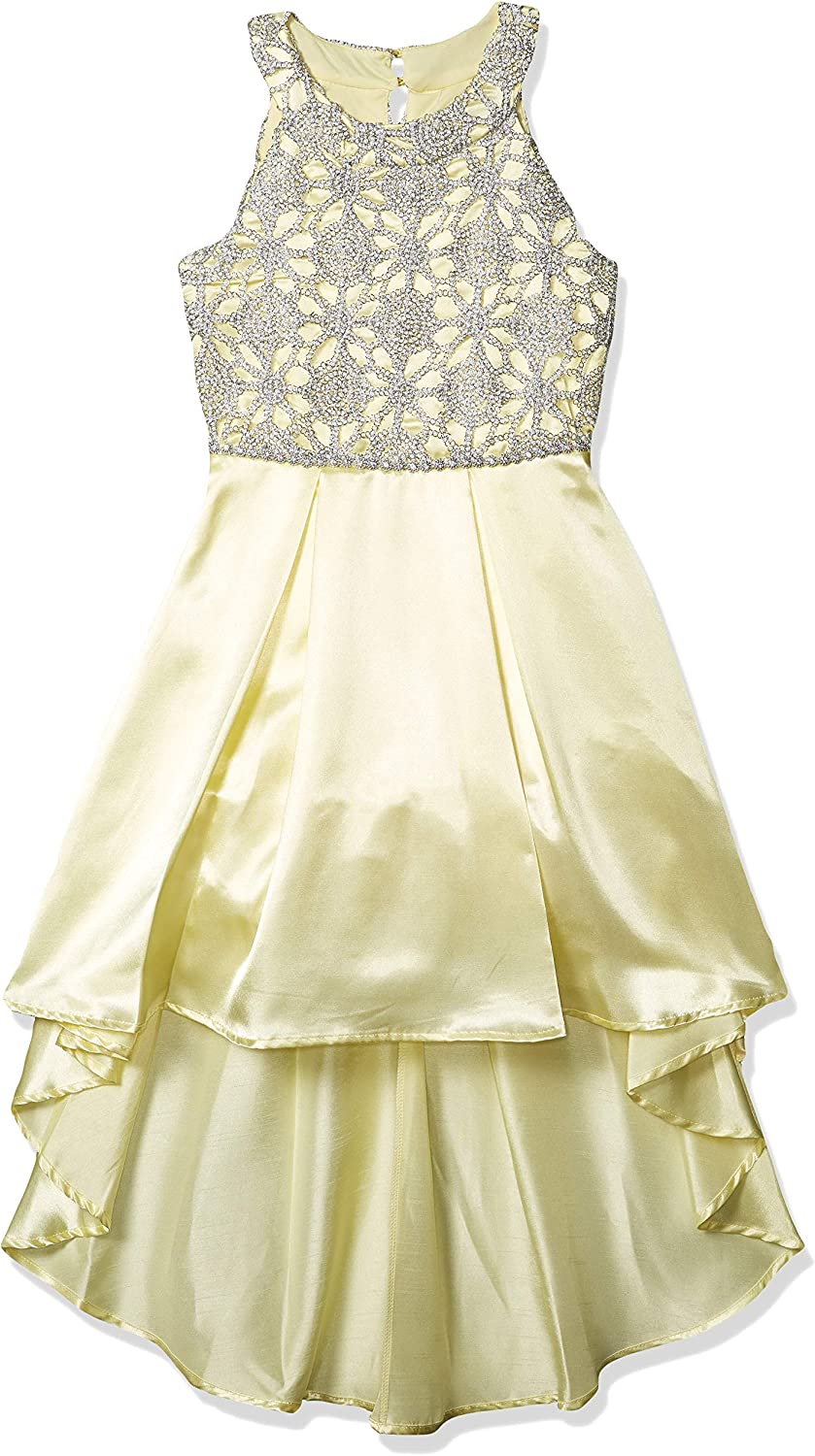 Speechless Girls' Circle Neck Party Dress with High-Low Hemline