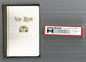 King James Version Rainbow Bible (Masonic Bible for Girls) White Moroccograne. Holman Model 11-R